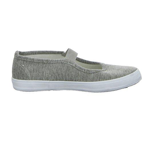 Sneakers 61.836.2.9.SO.1 Mädchen Leinen Slipper/Kletthalbschuh Grau (Grau)