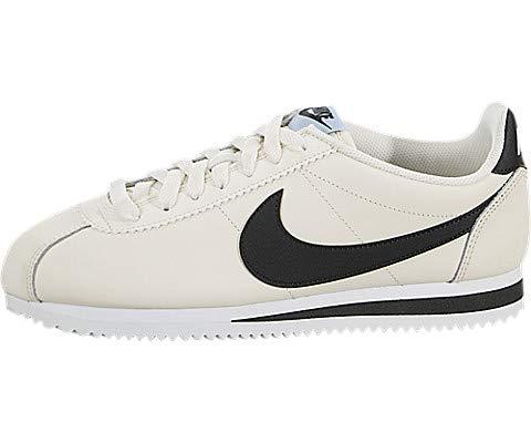 Nike Damen WMNS Classic Cortez Leather Laufschuhe, Mehrfarbig (Pale Ivory/Black-Aluminum-White 111), 37.5 EU -