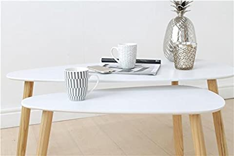 Scandinavian 2 Piece Nested Coffee Table Set, Home, Living, Furniture, New