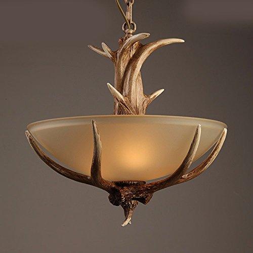 Lighsch lampadari sospensione american stile country corna creative camera da letto lampade di diametro42cm50cm