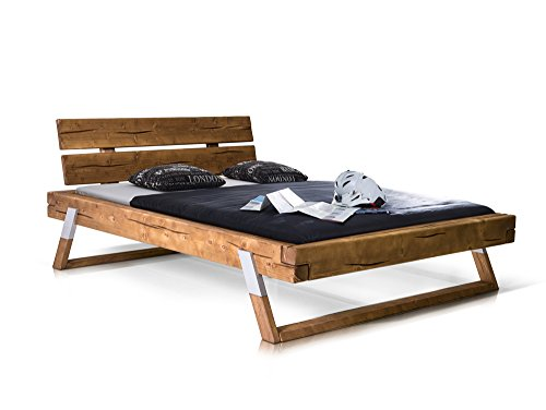 TYLER Massivholzbett Fichte/eichefarben, 160x200 cm