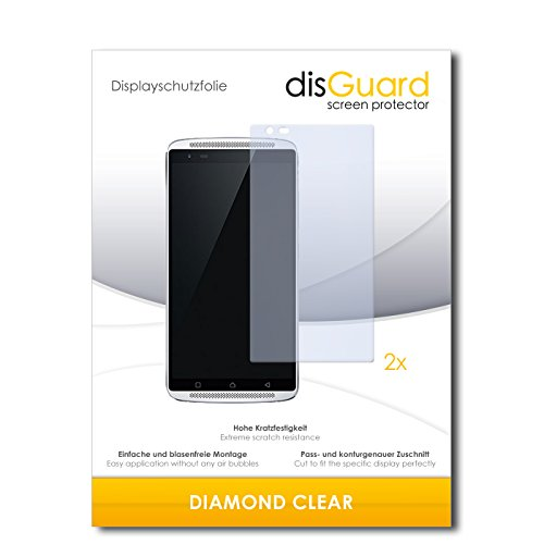 2 x disGuard® Bildschirmschutzfolie Lenovo Vibe X3 Schutzfolie Folie