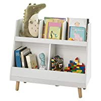 SoBuy® KMB19-W, Children Kids Bookcase Book Shelf Storage Display Rack Organizer Holder
