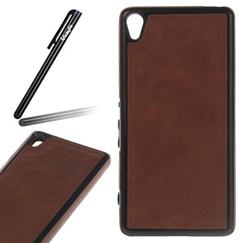 Pelle Custodia Cover per Sony Xperia XA Sony F3111BLK Case ,Ukayfe Ultra Slim Casa Custodia (Rivestita Di Gomma Di Caso)
