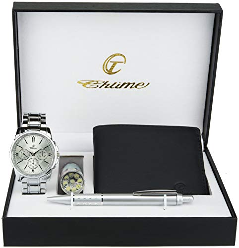 Caja Regalo Reloj Hombre - Lámpara LED - Billetera
