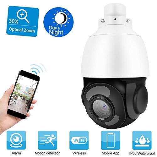 1080P Dome IP Kamera, PTZ-WLAN-30X optischer Zoom-Überwachungskamera, Outdoor IP Cam mit 120 m Nachtsichtentfernung, Automatikfahrt, Vollmetallgehäuse, Wasserdicht