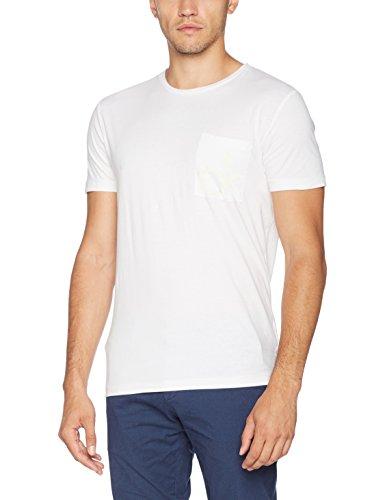 Calvin klein typor cn tee ss, t-shirt uomo, bianco (bright white), large (taglia produttore:l)