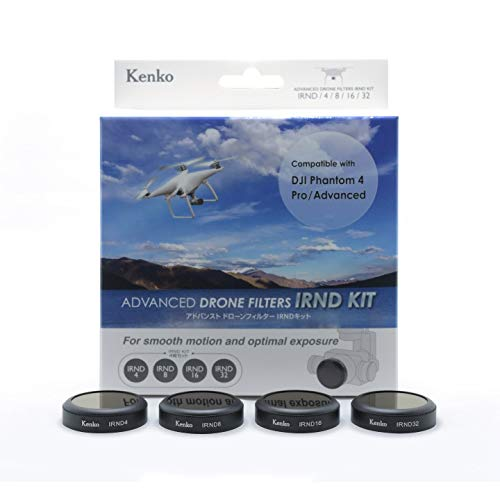Kenko Drone Filter Kit für DJI PHANTOM 4 pro/advanced Drohne, 4 tlg. (ND 4, ND 8, ND 16, ND 32), im Hardcase