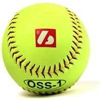 barnett OSS-1 balle de softball, baseball entraînement, 12'', JAUNE, 1 douzaine