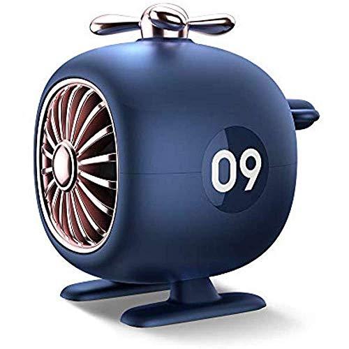 JOLLY Neue Retro-Flugzeugmodelle Bluetooth-Lautsprecher tragbares Zuhause im Freien kleine Stereo-Funk-Bluetooth (Farbe : Blau)