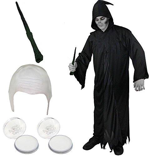 ILOVEFANCYDRESS Dark Lord KOSTÜM Set =Unisex = Das Perfekte Set FÜR Dunkle Herrscher Verkleidung der Fantasie=Ohne Schlange-XLarge