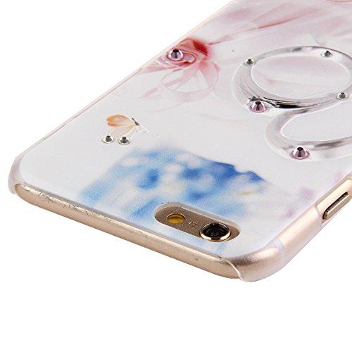 Ukayfe Ultra Slim Hard Plastica Custodia Protettiva Shell Case Cover per iphone 6, Scarpe col tacco alto Painted Intarsiato Lucido Diamante di Scintillio Assorbimento egli urti della Copertura del Res Anello