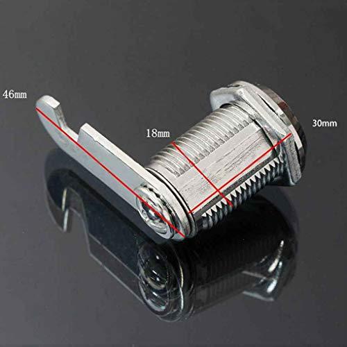 Ruiboury Tür-Kabinett-Schrank Kommode Workbox Toolbox Schublade Locker Strongbox Brief Game Box Key Drehen Cam Schließzylinder
