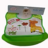 Baby Appron Baby Bib With Attachable Bowl Food Safety Appron For Baby Boy Baby Girl Perfect For Lunch Bib With Cartoon Prints Quick Dry And Washable - B07KS21GQQ