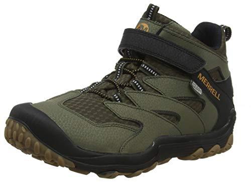 Merrell Unisex-Kinder M-Chameleon 7 Mid a/C Waterproof Trekking-& Wanderstiefel, Grün Dusty/Olive, 38 EU - Merrell Junge Schuhe