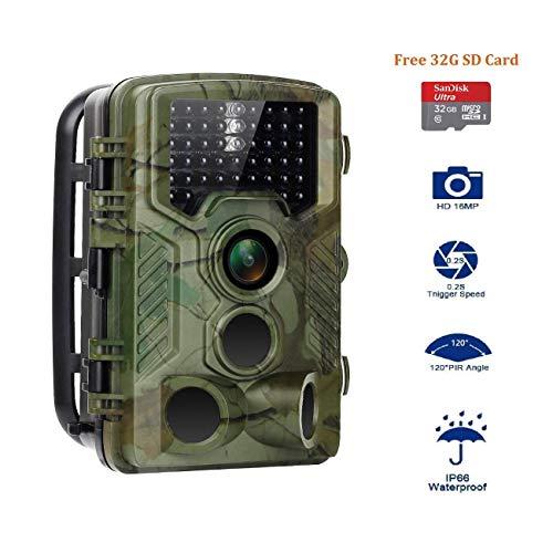 Aorula Right Wildlife Trail Kamerafalle 20 MP 1080P mit Infrarot-Nachtsicht bis zu 20 m IP66 Spray wasserdicht für Outdoor Natur, Garten, Haus-Sicherheit Überwachung