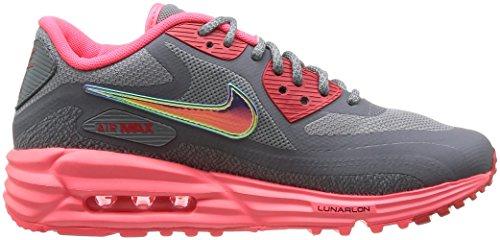 Nike Wmns Air Max Lunar90 C3.0, Scarpe sportive, Donna Cl Gry/Mtllc Slvr/Hypr Pnch/Ac
