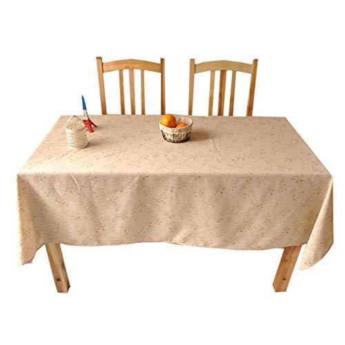 Xyxiaolun tovaglia di lino, 7 formati tovaglia agriturismo cotone lino anti-fading lavabile copertura di tabella per la decorazione domestica cucina sala partito everyday use,55.1 * 55.1in