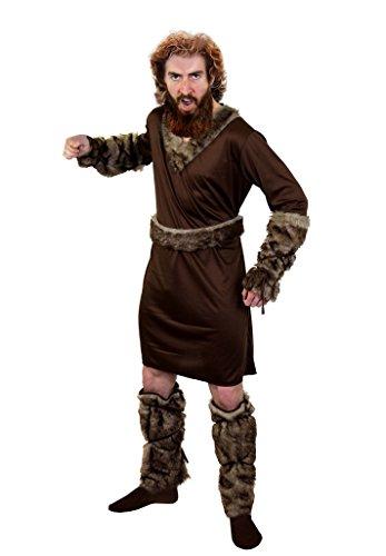 SUPER Wikinger /Vikings KOSTÜM DER Ragnar KLASSE=ERHALTBAR IN 5 VERSCHIEDENEN GRÖSSEN=BEEINHALTET-Tunika+GÜRTEL+2 ARM Fellimitat BINDEN +2 Fell IMITAT STULPE=Large (Viking Halloween Männer Kostüme)