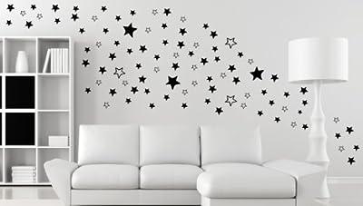 120 STERNE - Stars - Wandtattoo Aufkleber Wohnzimmer Schlafzimmer Fenster B289-V von Mabi-IN-Design bei TapetenShop