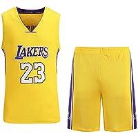 Cavaliers, Lakers, 23er Jugador De Jersey De Baloncesto Bordado De Nueva Jersey, Conjunto Amarillo