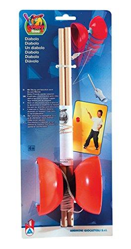 Simba 107303769 - Diabolo Kunststoff mit Holzstäbe, 3 sortiert