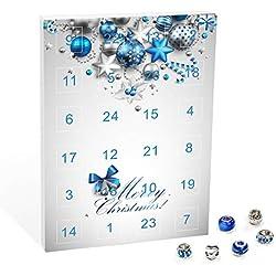 VALIOSA Calendrier de l'Avent avec Bijoux Merry Christmas, Farbe:Blau