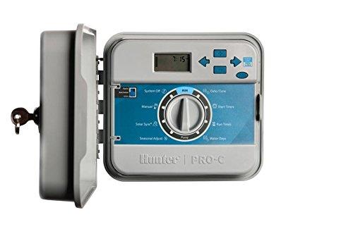Hunter PCC 1201 12-Station Steuergerät außen, interner 230VAC Transformator, Kunststoffgehäuse (Hunter 12)