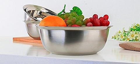 AISSION Stainless Steel Mixing Bowl Bol en acier inoxydable/Spill-Proof Marmites rondes en acier inoxydable, 24 cm
