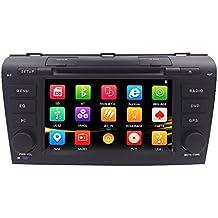 hizpo 7Inch Doble DIN en Dash HD pantalla táctil coche reproductor de DVD GPS navegación estéreo para Mazda 3200420052006200720082009apoyo Navi/Bluetooth/SD/USB/FM/AM Radio/3G/DVD/1080p