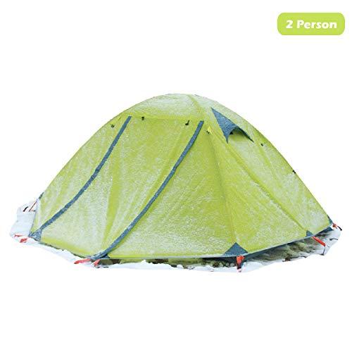 Azarxis tenda tende da campeggio 1 2 posti persone 3 4 stagioni ultra leggera impermeabile resistente facile doppio strato famigliari di trekking alpinismo hiking escursionismo stagione (verde)