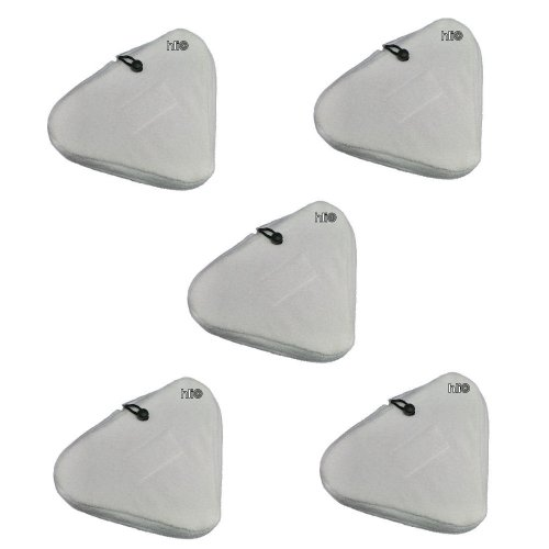 5 Ersatztücher Bezüge/Tücher für H2O Dampfbesen Aqua Laser Dampfreiniger Premiumgröße