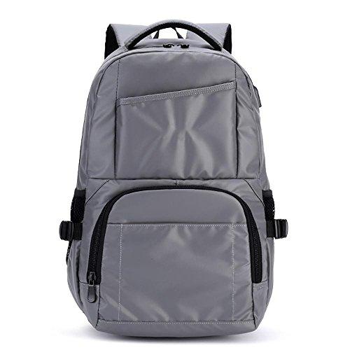 USB-koreanische beiläufige Männer Schulter Daypack wasserdichte Student Tasche Trendy Reise Laptop Rucksack ZLL , - Boot-männer Wasserdichte
