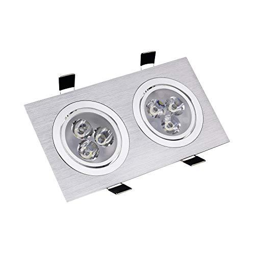 Foco Downlight LED Direccionable Rectangular 2x3x1W Blanco Neutro 4000K-4500K efectoLED