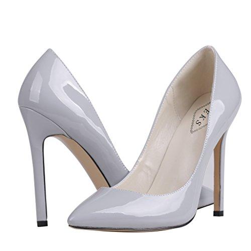 EKS , Chaussures à talons femme Grau-Lackleder