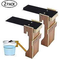 niceeshop (TM) - Trampa para ratones, Trampa para ratas con cubo, el ratón camina hacia el cubo por si solo, no requiere taladros. Los puedes eliminar o dejarlos vivos, 2 Black + wood color