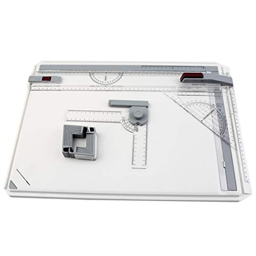 ForceSthrength A3 Drawing Board Table with Parallel Motion Adjustable Angle Art Drawing Tools