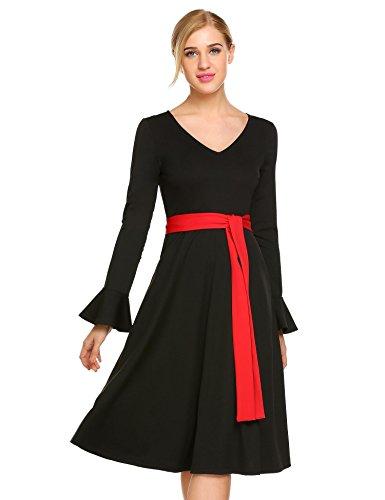 50% discount on Chigant Damen Frühling Herbst Winter Kleid Elegantes ...