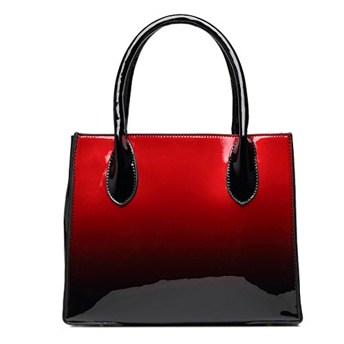 e712041ba9a96 ... Miss Lulu PU-Leder Henkeltasche Handtaschen Damen Taschen Umhängetasche  Top Griff Geldbörse (LH1759- ...