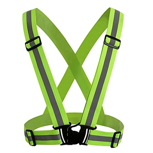UNYU Chaleco de Alta Visibilidad, Reflectante, cinturón de Seguridad para Correr al Aire Libre, Ciclismo, Senderismo y Motocicleta