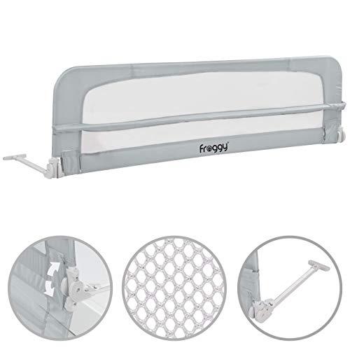 Bettgitter 150 cm Bettschutzgitter Kinderbettgitter Babybettgitter Gitter Kinderbett Fallschutz Bett Lightgray -