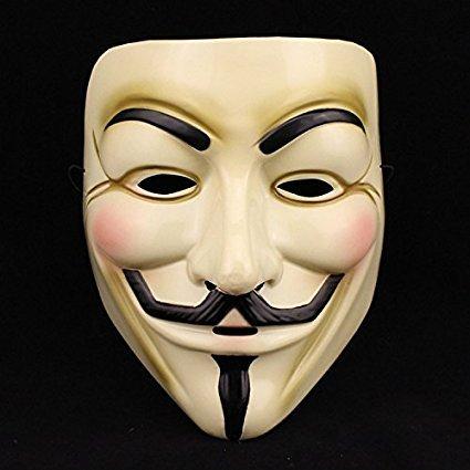 Gesichtsmaske V Für Vendetta Guy Fawkes Maske Anonyme Maske, Kostümparty Maske, Erwachsenenmaske, Party Maske ()