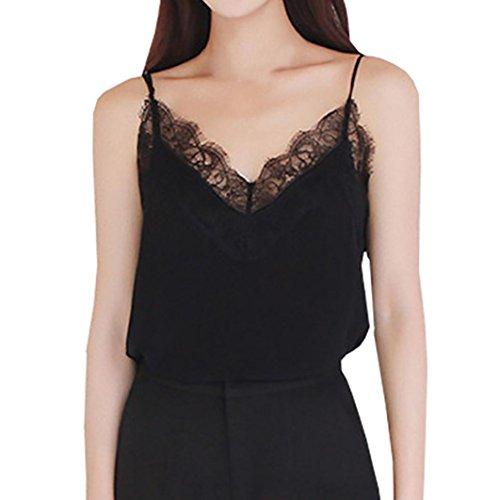 Zum Shop · Tshirt Oberteile Damen Elegant Sommer Kurzarm Lässige Spitze  ärmellose Weste Shirt Tank Bluse Tops 4544a6376e