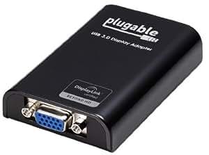 Plugable Technologies USB3USB3.0VGA VGA Black Cable adaptateur Interface/Gender Adaptateur–Cable Interface/Gender (USB 3.0, VGA, femelle/femelle, noir, 1920x 1080pixels, Windows 8(32/64bits), Windows 7(32bits/64bits), Windows XP Home/Professional)