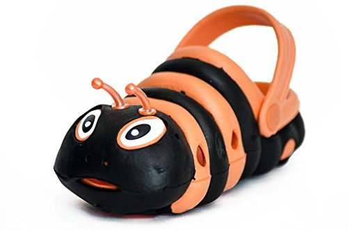 JeGes Caterpillar Clogs (9 UK Kids, Ollie Orange) Kids Clogs - EVA Rubber Childrens Shoes, unisex summer shoes, summer shoes for boys, summer shoes for girls, Quality beach footwear, Flipflop style, Cartoon Clogs.