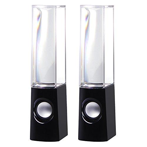 Tonor Mini Altavoces con LED Colores Fuente de Música Bailando para P
