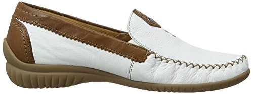Gabor - Mocassini, Donna Bianco (White (White Leather/Copper Leather))