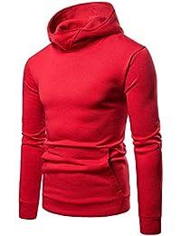 4c96901a7220 GLESTORE Sweat-Shirt à Capuche Homme Manches Longues Hiver Slim Fit Noir  Bleu Marron
