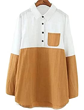 De Gran Tamaño Las Mujeres Mosaico Decorativo Camisa De Manga Larga Blusa