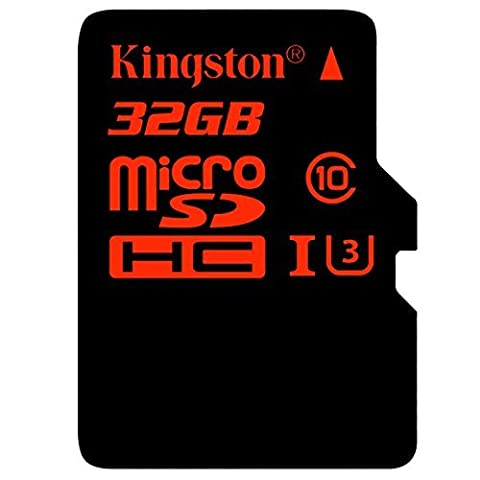 Kingston SDCA3/32GB Carte MicroSDHC/SDXC UHS-I U3 90R/80W (SDCA3) avec Adaptateur SD